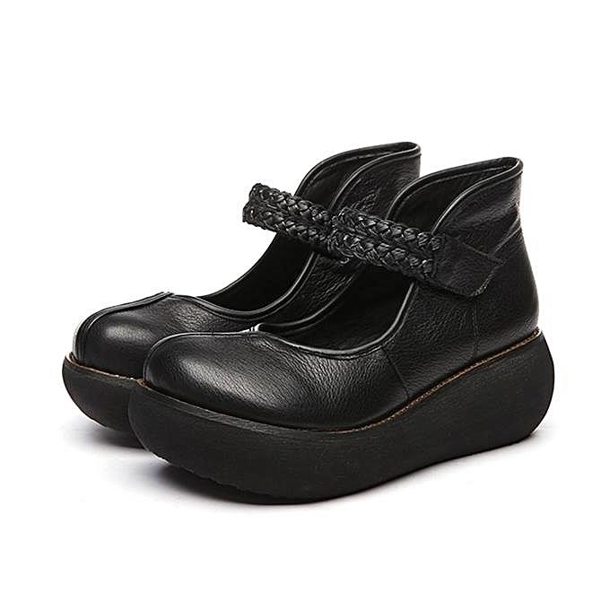 Fashion SOCOFY Retro Round Toe Hook Loop Platform Soft  Leather Fashion WoHommes  Soft Shoes-EU à prix pas cher  | Jumia Maroc 346a0e