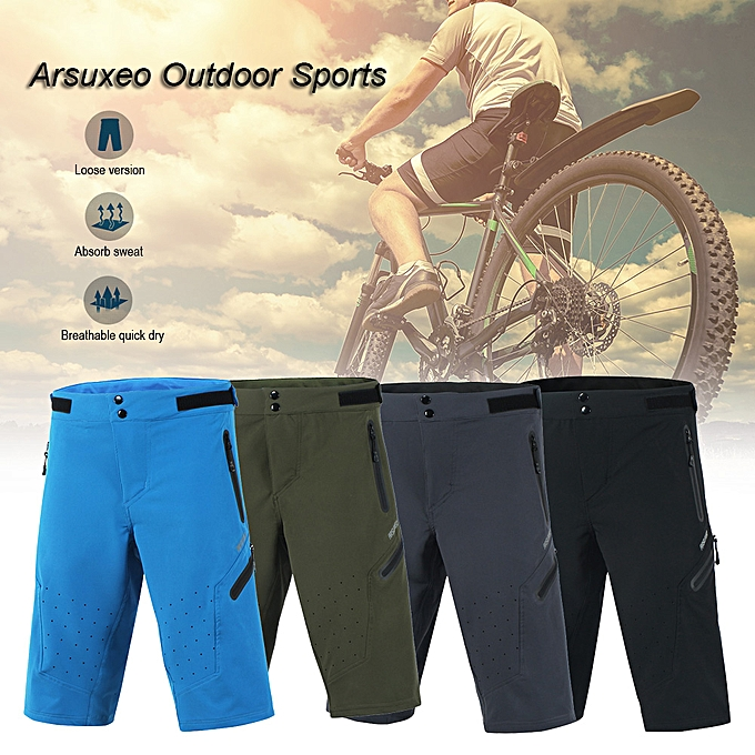 Other Arsuxeo Outdoor Sports Cycling Shorts Men's Running Shorts Quick Dry Marathon Training Fitness Running Trunks à prix pas cher