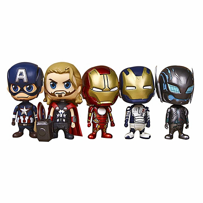 Autre Sunborui 5pcs super héros Avengers Iron Man Captain America Toy Collection Ensemble de figurines à prix pas cher