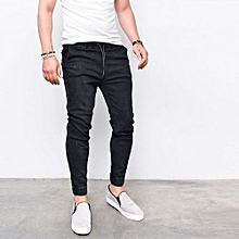 db12239b722 Men  039 s Skinny Jeans Fashion Casual Feet Elastic Pants Thin Cotton Pants  jeans