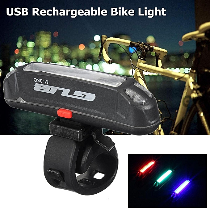 UNIVERSAL USB Rechargeable LED Bicycle Bike Cycling Rear Tail Light 3 Couleur Change Lamp à prix pas cher