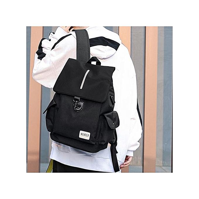 Generic Correponde Unisex USB Rechargeable sac à dos School voyage Double Shoulder sac Zipper sac à prix pas cher
