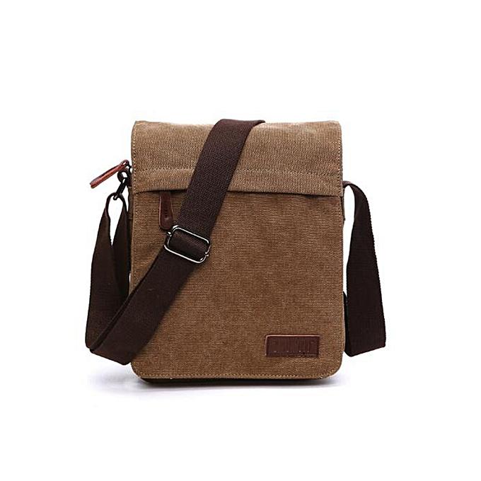 Other 1Pcs New Arrival Fashion Men Casual Business Crossbody Bag Canvas Messenger Bag Shoulder bag Travel bag Handbag(Coffee) à prix pas cher
