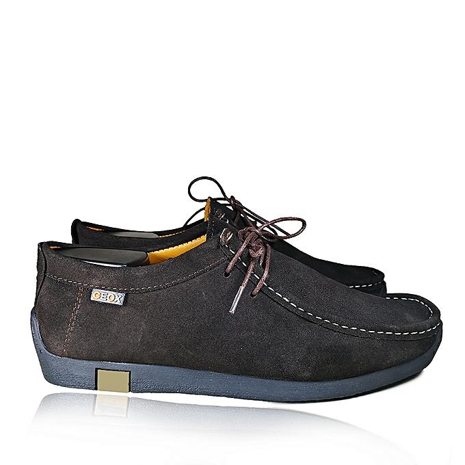 a49e88efad9c Geox Chaussures bateau 100% Daim naturel -marron foncé à prix pas ...
