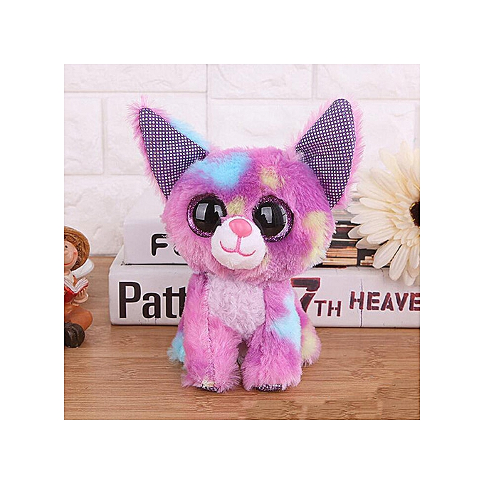 Autre Ty Beanie Boos Big Eyes Owl Cat Elephant Penguin Deer Lion Foxy Dog Rabbit Giraffe Monkey Stuffed Animals Plush Toys(16) à prix pas cher