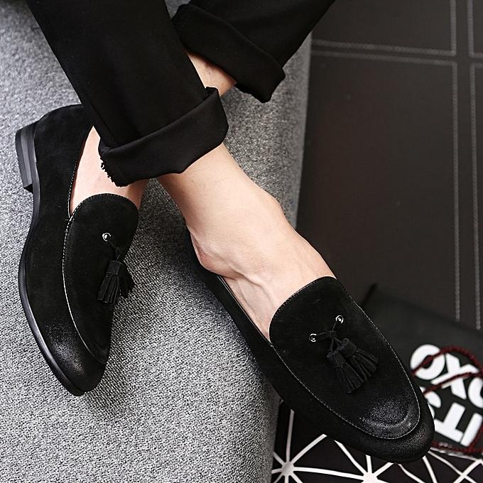 Other Men Plus Taille Tassel Lazy chaussures Flat Driving chaussures  -noir à prix pas cher    Jumia Maroc