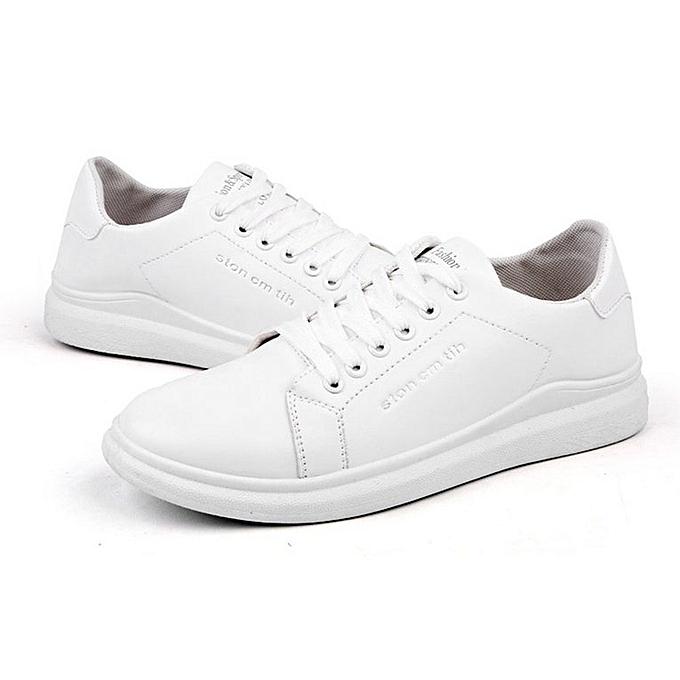 Generic UJ Male paniers respirant engrenebague Lining Hommes chaussures British Style Décontracté-blanc à prix pas cher