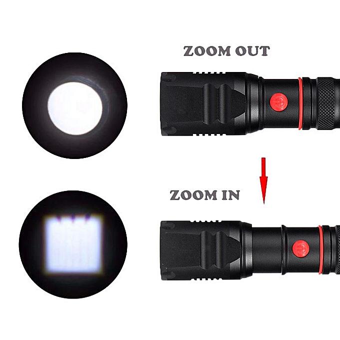 GENERAL quanxinhshang 3 Modes XM-L2 Super Bright X800 Tactical Flashlight LED Zoom Military Torch à prix pas cher