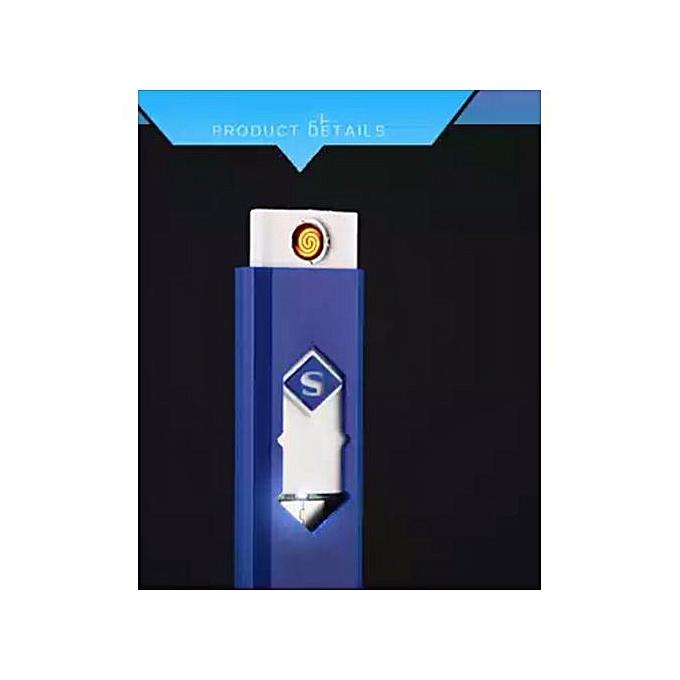 USB Briquet Électronique Rechargeable Cigarette Coupe-Vent Plasma ARC Léger