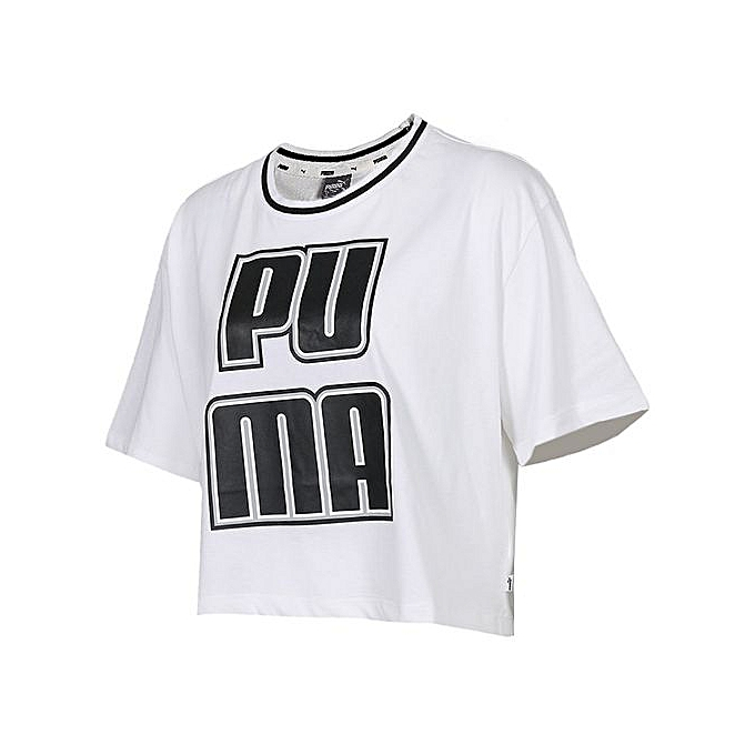 Puma Puma Summer Wohommes blanc Short-sleeved T-Shirt 579533-02 à prix pas cher
