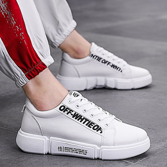 Other Spring New Men's Leisure baskets Breathable Plate Sports chaussures-blanc à prix pas cher