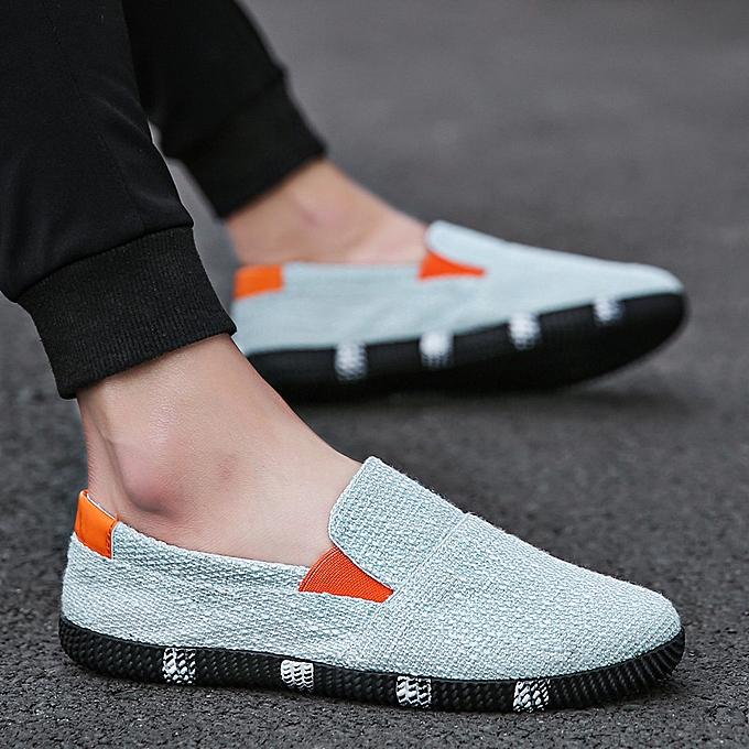 Other nouveau mode été Hommes's Décontracté chaussures Korean Version Male Tide respirant Cloth-lumière bleu à prix pas cher
