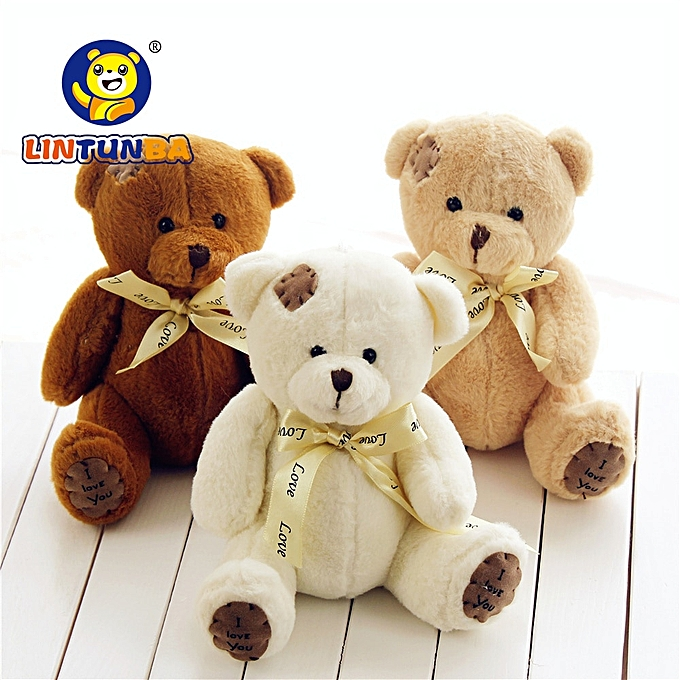 Autre 1pc 15cm Patch Bear Dolls Teddy Bear Soft Toy Bear Wedding Gifts Baby Toy Birthday gift brinquedos Soft toys(light marron) à prix pas cher
