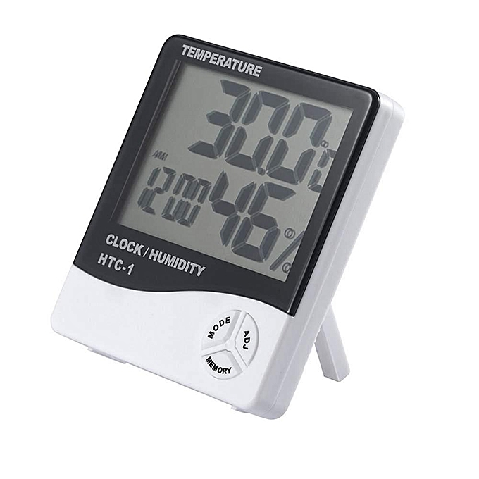 Other Thermometer Indoor Digital LCD Hygrometer Temperature Humidity Meter Alarmclock (blanc , Not Specified) LJMALL à prix pas cher