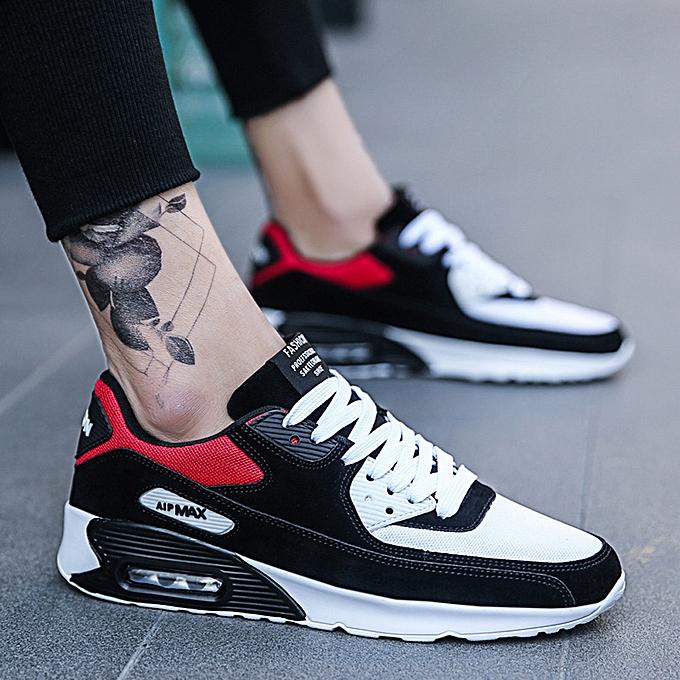 mode Décontracté Hommes's  FonctionneHommest Round-Toe chaussures  engrener respirant Platform Lace-Up paniers à prix pas cher