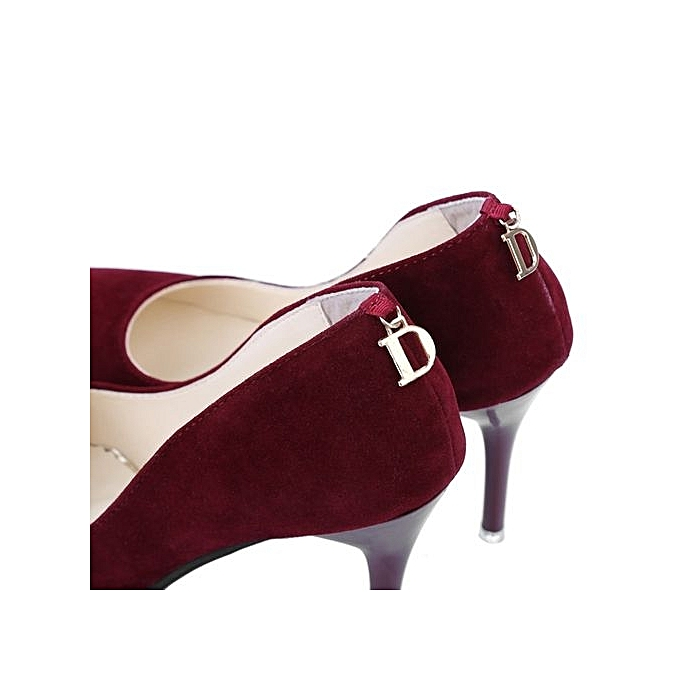 Fashion   Sexy Pointed Toe High Thin Heels Shoes-WINE Shoes-WINE Shoes-WINE RED à prix pas cher  | Jumia Maroc 7795b3