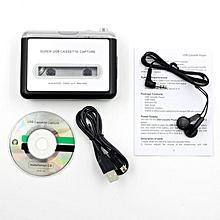 6f03956a7 TA Portable Tape Cette Convert MP3 Player Converter Audio Capture Music  Player-Black