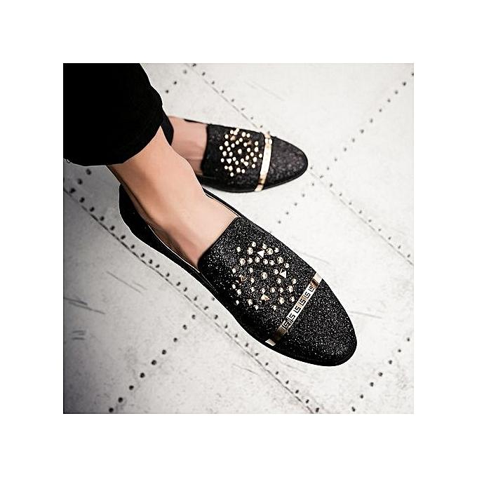 Fashion   Casual Fashion Slip On On Slip Outdoor Inside Golden Loafers-BLACK à prix pas cher    Jumia Maroc 20b02e