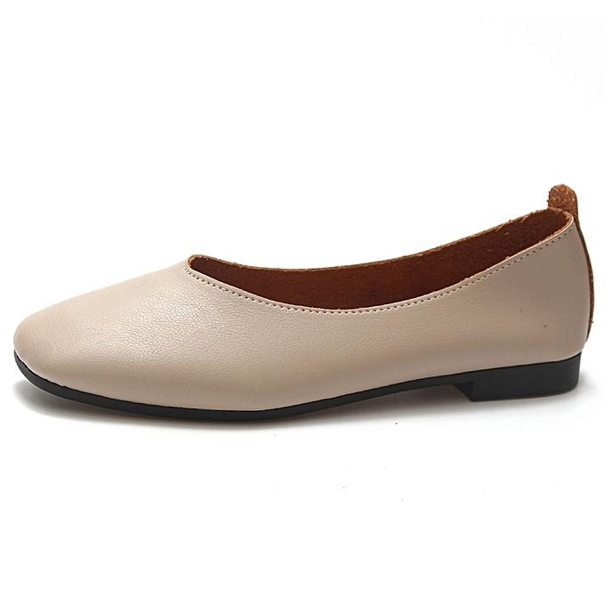 Other Stylish Wohommes Vintage chaussures Pure Couleur Wohommes Flats -C12 Beige à prix pas cher    Jumia Maroc