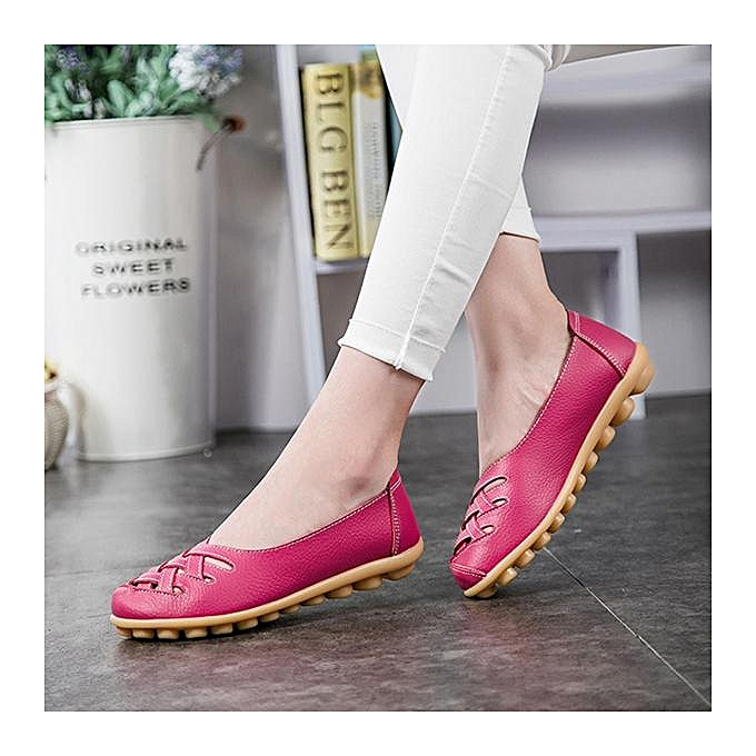 Fashion Fashion femmes Big Taille Soft Breathable Slip On Hollow Out Flat Boat Loafers chaussures à prix pas cher    Jumia Maroc