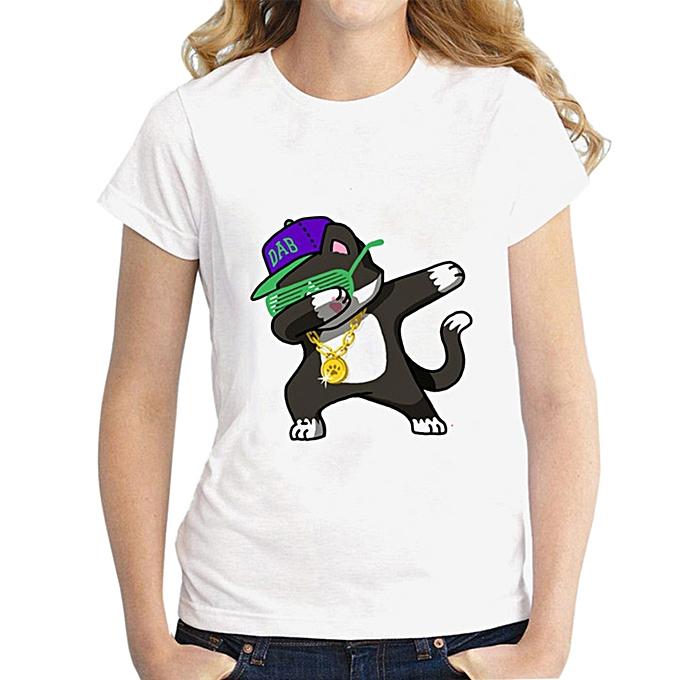 Generic Generic femmes Décontracté manche courted O-Neck Printed hauts Loose T-Shirt chemisier   A1 à prix pas cher