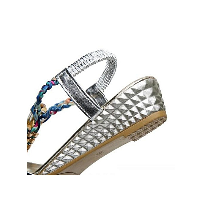 mode Hiamok_été femmes Flat Sandals For femmes mode Décontracté Sandals  plage chaussures à prix pas cher