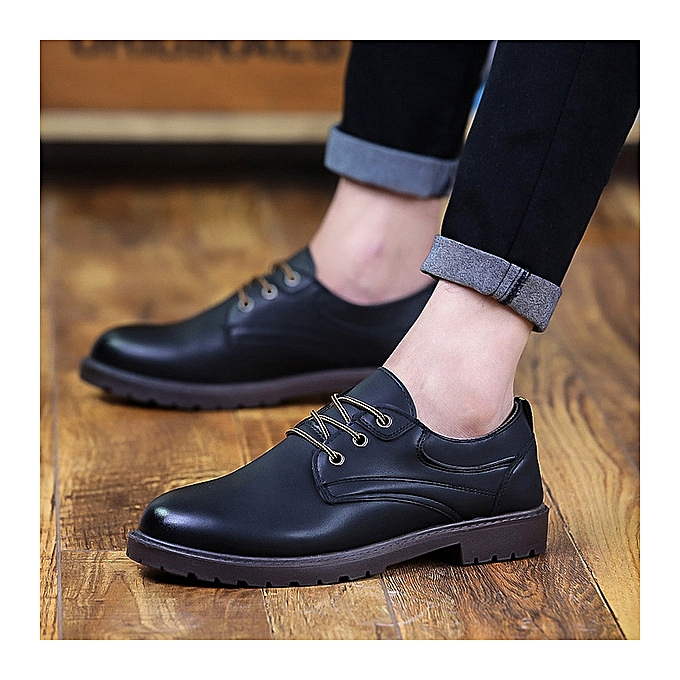 OEM New hommes wild fashion casual chaussures waterproof business lace chaussures four seasons trend hommes chaussures-noir à prix pas cher    Jumia Maroc
