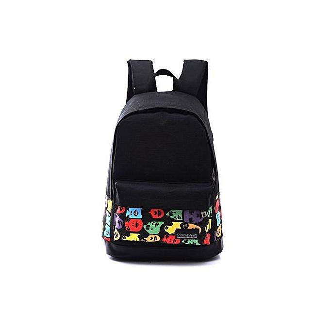 Generic Girls garçons Unisex toile sac à dos sac à dos School Book Shoulder sac à prix pas cher