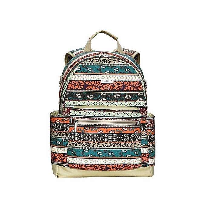 Insular toile Multifunction grand capacité Vintage Floral Diaper sac sac à dos Laptop sac For   à prix pas cher
