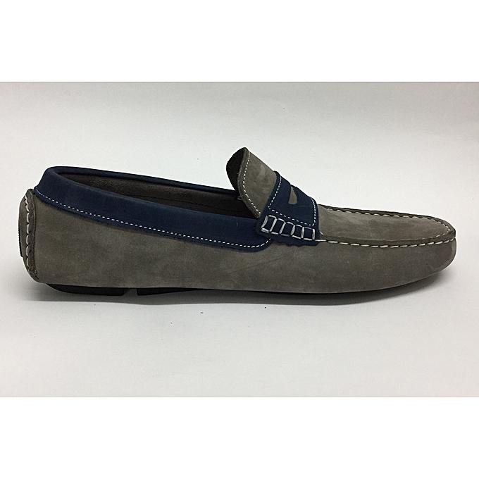 Other Chaussures Mocassin - Vrais Nubuck  - gris et Bleu à prix pas cher    Jumia Maroc