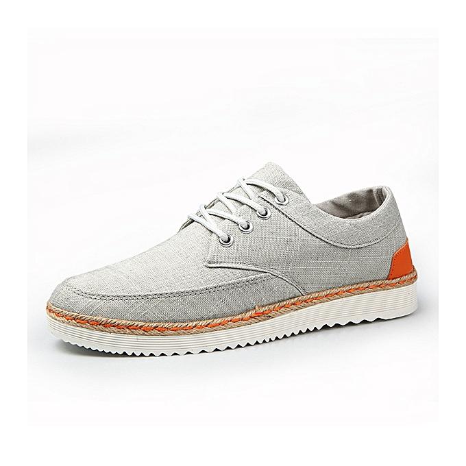 Fashion US Taille 6.5-11.5 Men baskets Canvas Causal Outdoor Sport Flat Comfortable Oxfords chaussures à prix pas cher
