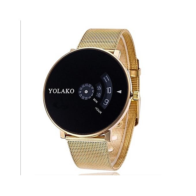 b9881047b YOLAKO ساعة يد ذهبية مع علبة هدية أنيقة   جوميا المغرب