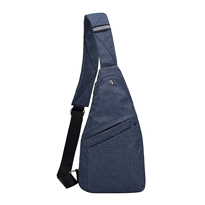 Other Fashion Thin Light Men Canvas Anti-theft Travel Outdoor Shoulder Chest crossbody bag messager bag for men(bleu) à prix pas cher