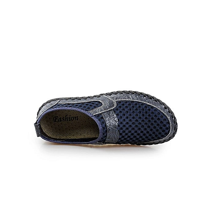 HT    Breathable Slip-On Casual Shoes-Blue à prix pas cher   | Jumia Maroc 323e10