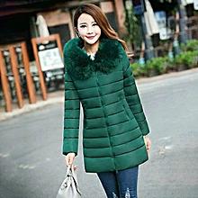 d21aca14522 Plus Size Medium-Long Cotton Outerwear Winter Coats Women With Big Fur  Collar