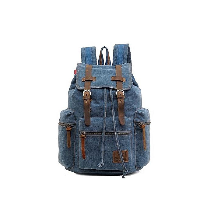 Generic Nice Fashion Men's Backpack Vintage Canvas Men's Travel Bags à prix pas cher