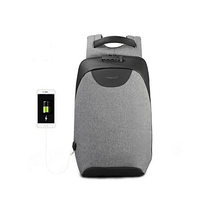 OEM Hommes 15 15.6 inch Anti theft Laptop sac à doss Multifunction imperméable USB sac à dos For Man gris à prix pas cher