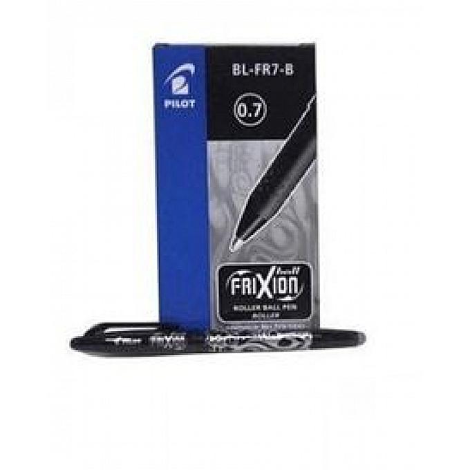 PILOT Paquet 12 FRIXION noir - Stylo à bille encre gel qui s'efface à l'aide de la gomme en bout de stylo  à prix pas cher