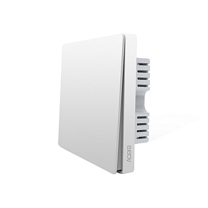 UNIVERSAL Xiaomi Aqara Smart Light Control One Key Wall Switch (ZigBee Version), Work with Xiaomi Multifunctional Gateway (CA1001) Mihome APP Control(blanc) à prix pas cher