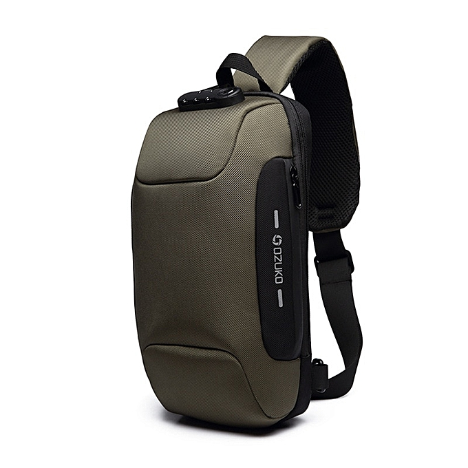 Other OZUKO 2019 New Multifunction Crossbody Bag for Men Anti-theft Shoulder Messenger Bags Male Waterproof Short Trip Chest Bag Pack(vert) à prix pas cher