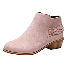 b7f72bdd07b3 Women  039 s Ladies Fashion Ankle Solid Knitted Flock Martin Shoes Short  Boots Bootie