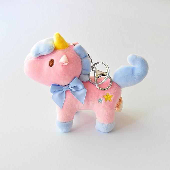 Autre Cute Peu 9cm Approx Unicorn Plush Toys for Christmas Keychaîne Unicorn Plush Doll Toy Enfants Gift petit pendentif chaîne(horse 03 rose) à prix pas cher