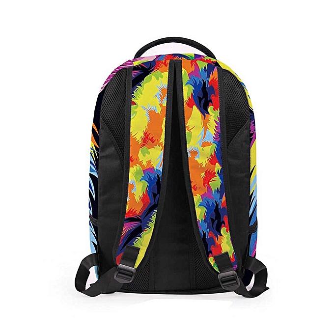Fashion Tcetoctre femmes Men 3D Galaxy Travel Satchel Backpack Rucksack Shoulder Bookbag School Bag-   Multicolour à prix pas cher