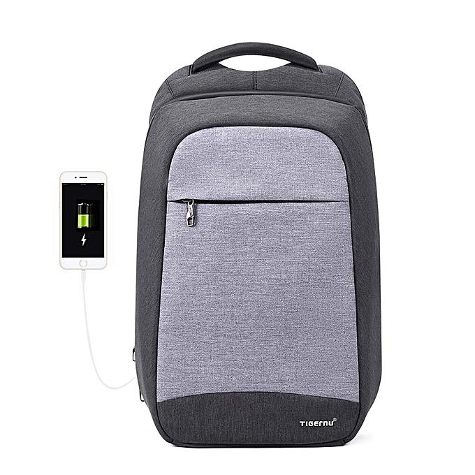 OEM Hot sale High Quality Laptop sac à dos Affaires sacs with USB Charging Port Water Resistant Anti-Theft gris à prix pas cher