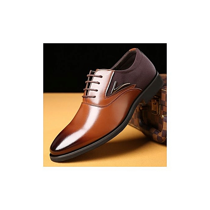 Fashion  's Shoes  's 's  Large Size Business Casual Shoes British Fashion  's Shoes-Marron  à prix pas cher  | Jumia Maroc 2a8e1b