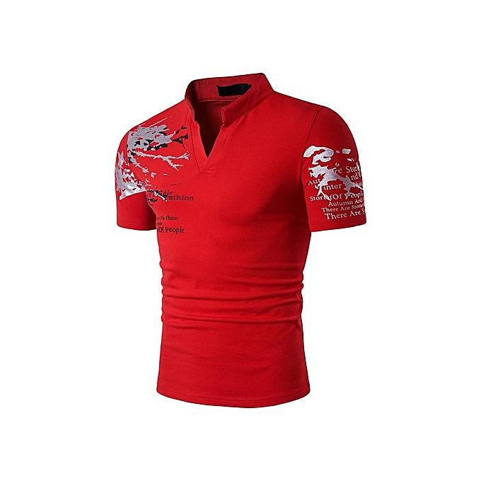 AFankara Hommes Polos Shirts - Wine à prix pas cher