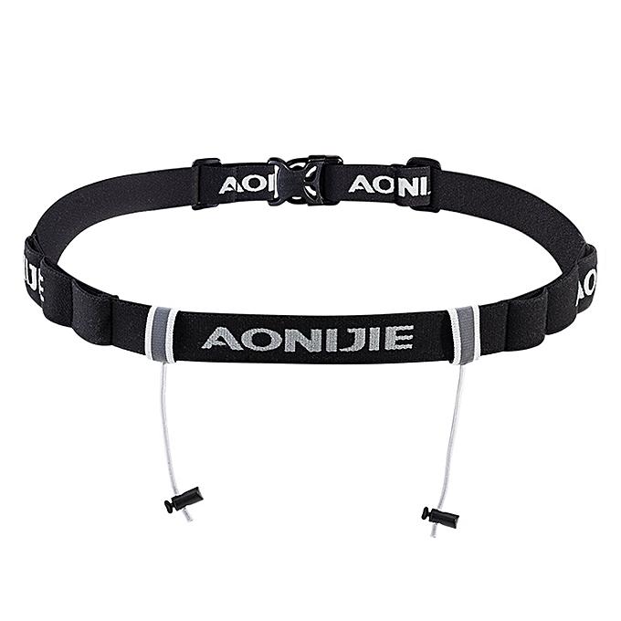 AONIJIE Outdoor Sports Running Cycling Waist Pack Pouch Number Holder Sticker Waist Bag Pocket Bag Triathlon Marathon Race Number Belt(noir-1) à prix pas cher