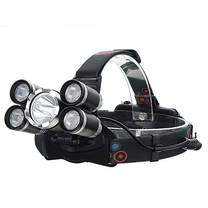 UNIVERSAL 35000 Lumens 5x Cree T6 LED Headlamp USB Rechargeable 18650 Headlight Head Torch à prix pas cher