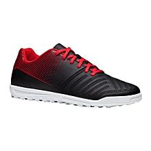 712e21526 Kipsta حذاء كرة القدم للأطفال أرضية عشبية وترابية أسود أبيض أحمر