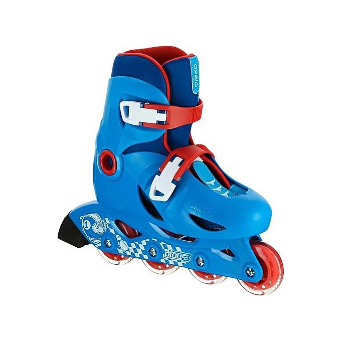 Oxelo ROLLER ENFANT PLAY 3 - bleu rouge à prix pas cher
